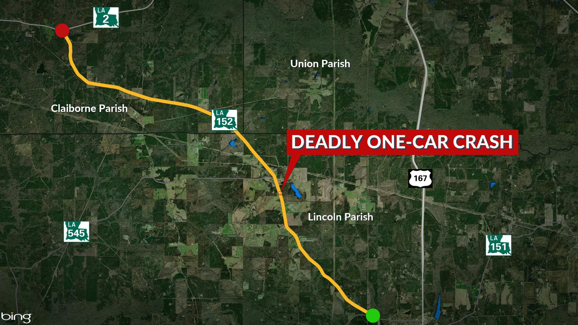 State Police: Unrestrained driver killed in Lincoln Parish Crash