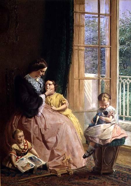 George Elgar Hicks - Mrs. Hicks, Mary, Rosa and Elgar