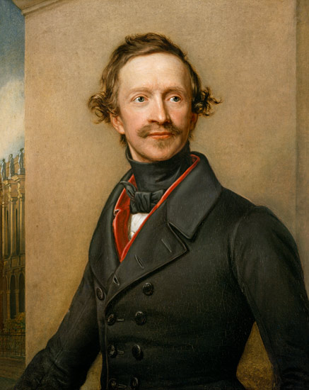 Joseph Karl Stieler - King Ludwig I. of Bavaria, half-length portrait.