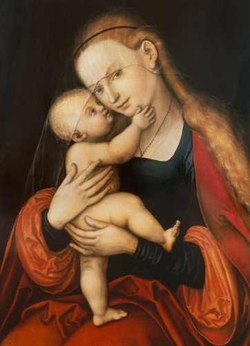 Lucas Cranach the Elder - Madonna with child (Passauer picture with miraculous powers)