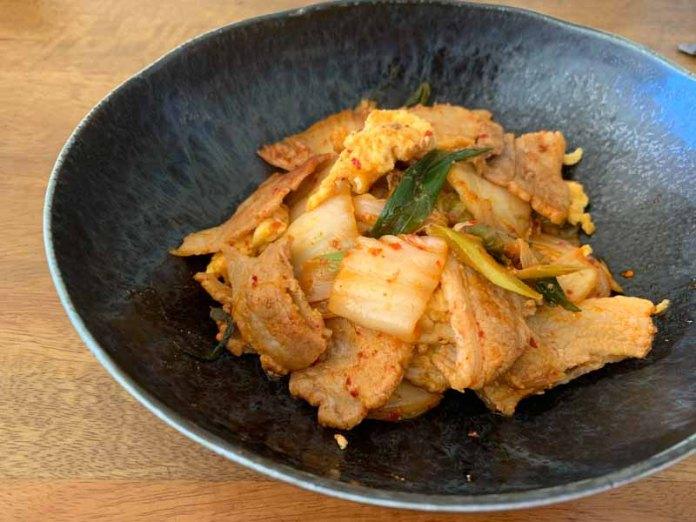 簡単レシピ、卵入り豚キムチ