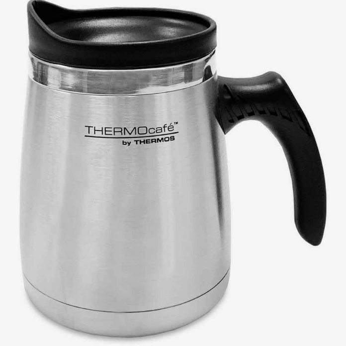 Thermos 450ml SS Double wall wide base mug