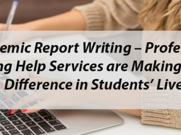 Academic report writing help