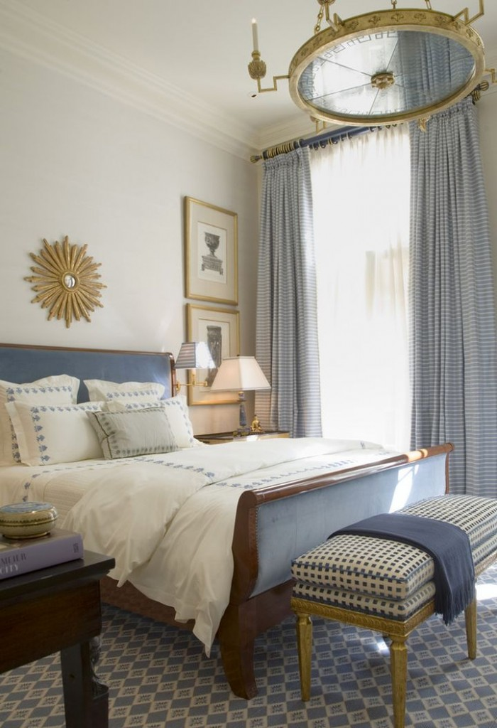 20 Deluxe Blue And Gold Bedroom Designs