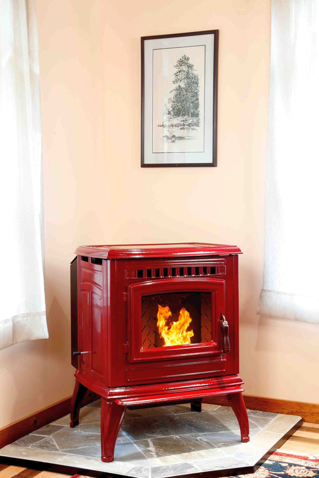 Retro Looking Freestanding Fireplaces Designs