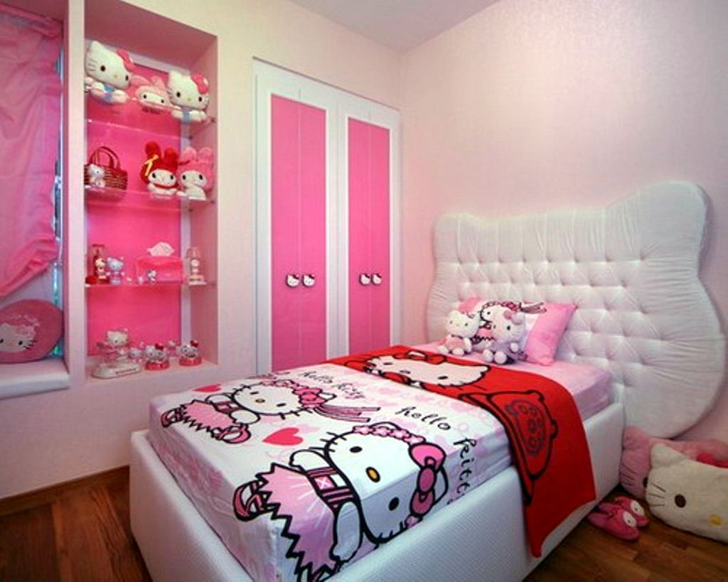 20 Cutest Hello Kitty Girls Bedroom Designs and Decorations on Girls Bedroom Ideas For Very Small Rooms  id=67858