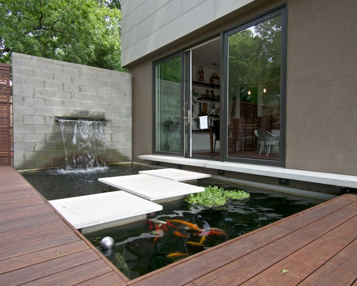 17 Modern Water Feature Designs For Your Garden on Modern Backyard Water Feature id=37347