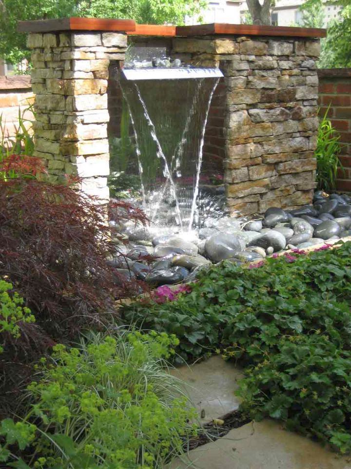 17 Modern Water Feature Designs For Your Garden on Modern Backyard Water Feature id=72160