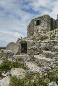 Unique abandoned dwelling on Cat Island, Bahamas
