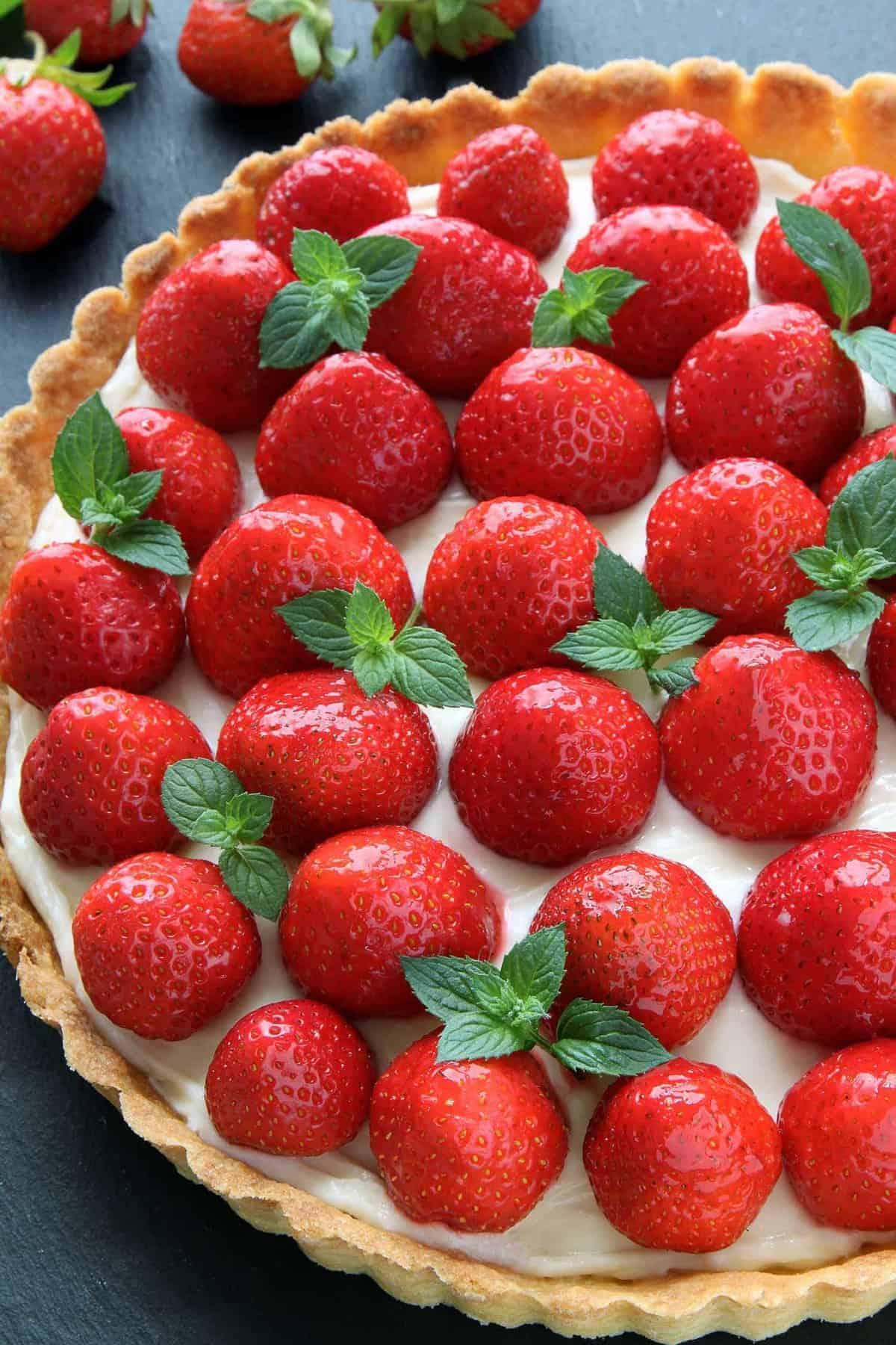 Strawberry Cream Cheese Tart My Baking Addiction