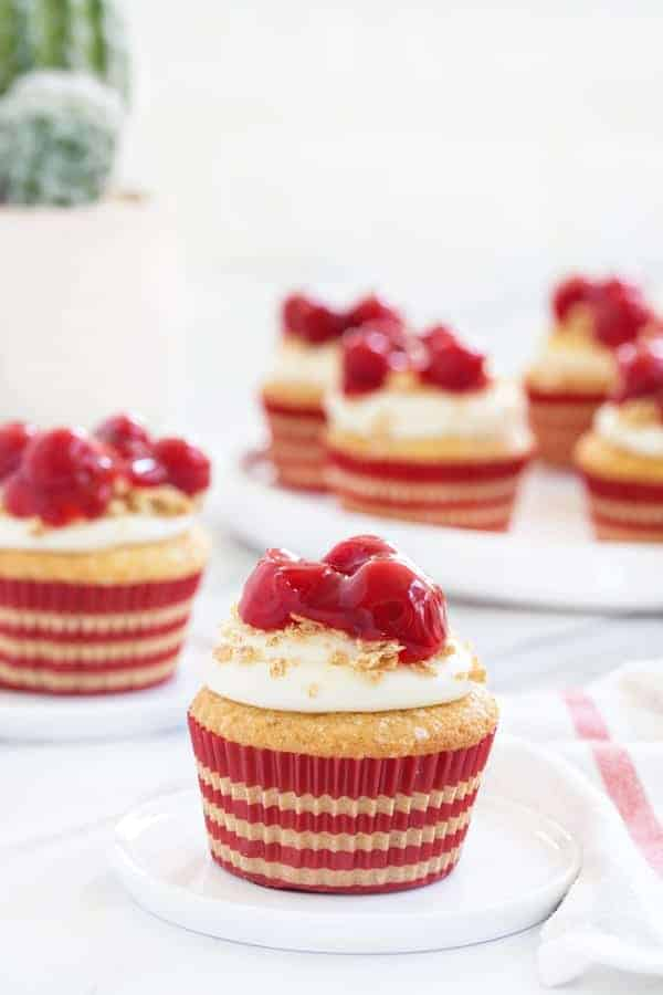 Cherry Cheesecake Cupcakes My Baking Addiction