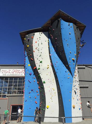 My Ballard » Stone Gardens' outdoor climbing wall ready to go
