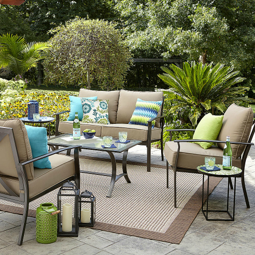 sears patio furniture sets 49% off Garden Oasis 4-PC Seating Set : $359.99