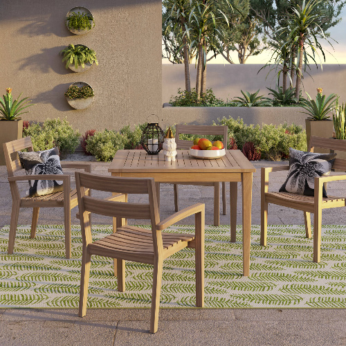 outdoor patio dining sets clearance 50% off 5-PC Wood Patio Dining Set : $349.98 + Free S/H