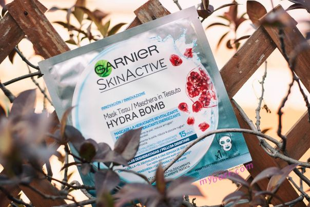 maschera Hydra Bomb Garnier idratante per pelli da dissetare mybarr