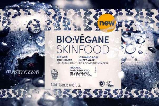 Bio Vegane Skinfood Bio Acai maschera viso in cellulosa mybarr