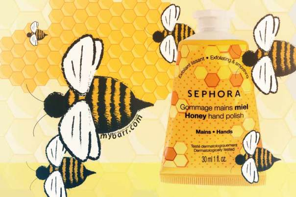 gommage mani al miele di Sephora, lo scrub con i granelli di zucchero mybarr