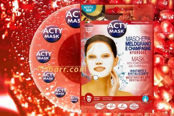 acty mask maschera melograno e champagne eurosirel hydrogel myba