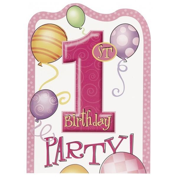 carte d invitation pour feter le premier anniversaire de bebe fille