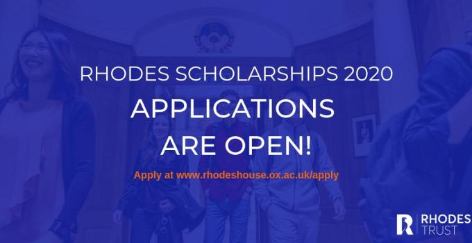 Rhodes Global Scholarships 2020 for Postgraduate Study at University of Oxford (Fully Funded) 1