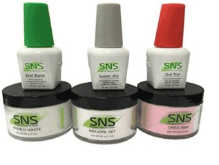 SNS Nails White and Pink Kit