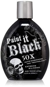 Millennium tanning lotion paint it black