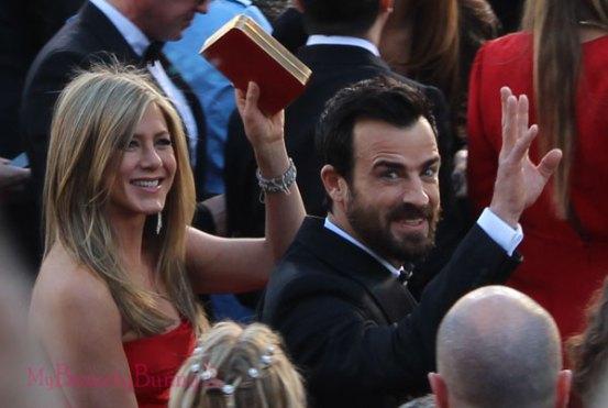 Jennifer Aniston and Justin Theroux Oscars 2013