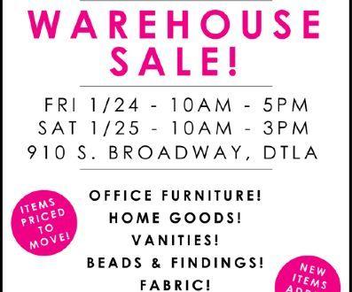 tarina tarantino warehouse sale