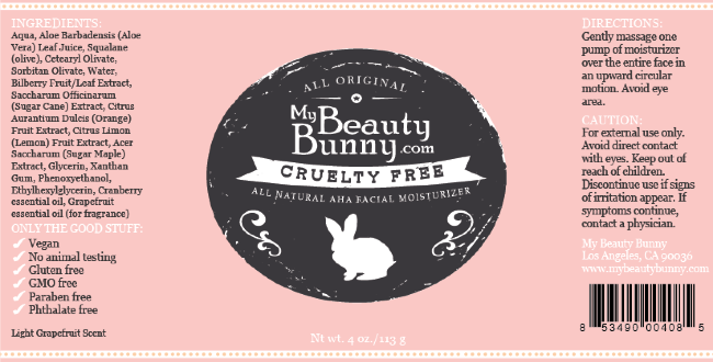 My Beauty Bunny Face Moisturizer