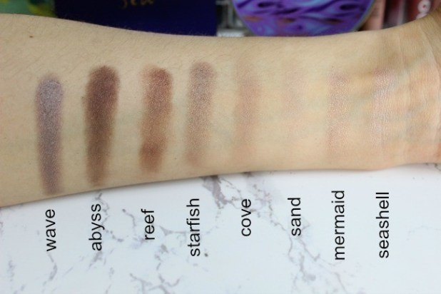 tarte rainforest of the sea eyeshadow swatches