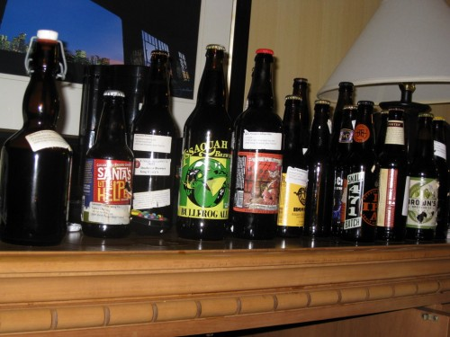 Last year's GABF haul - a lot of beer to drink