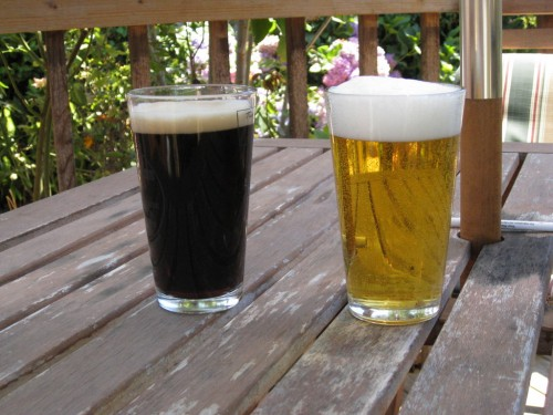 Molly's Beer (l) and mine (r)