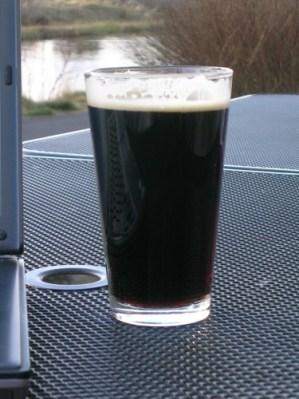A Deschutes Black Butte Porter by the Deschutes River