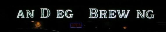 SDBC sign at night