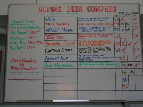 Alpine Menu Board