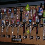 Beer Taps at Eugene City Brewery