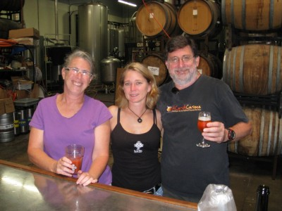 Amy, Beer Molly and Pete Schloseberg at the brewery