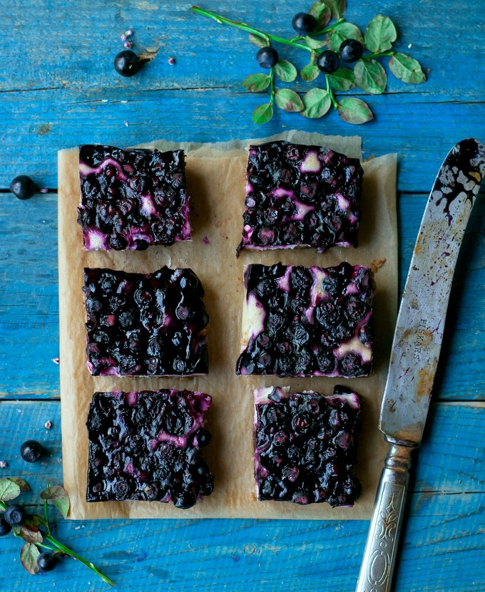 Vegan, Gluten-free Blueberry Cheesecake Bars. Myberryforest.com