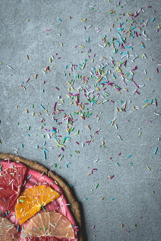 Citrus Pizza Pie. Vegan, gluten-free, myberryforest.com