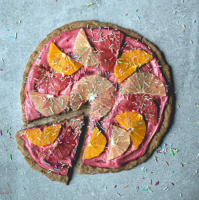 Citrus Pizza Pie. Vegan, gluten-free, myberryforest.com