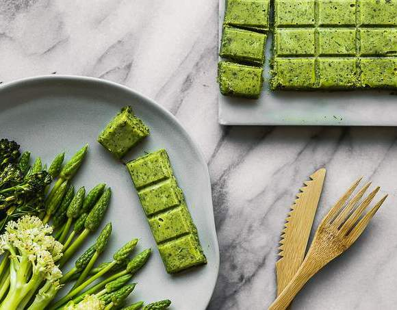 VEGAN HERB BUTTER AND ROASTED BROCCOLINI