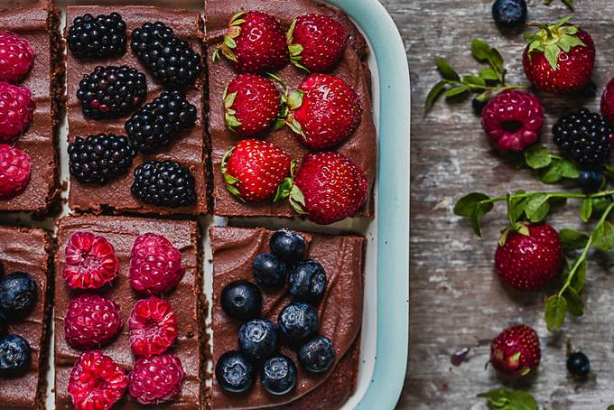Back-to-school vegan chocolate cake