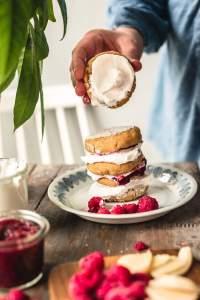 Gluten-free Vegan Semla Pancakes