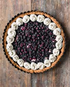 Gluten-free vegan blueberry cardamom pie