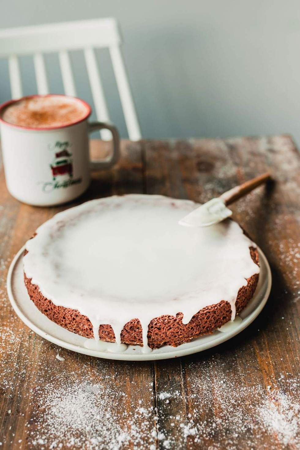 Vegan rum cake for the holidays