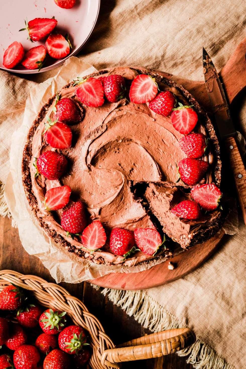 Creamy Chocolate Tahini Tart