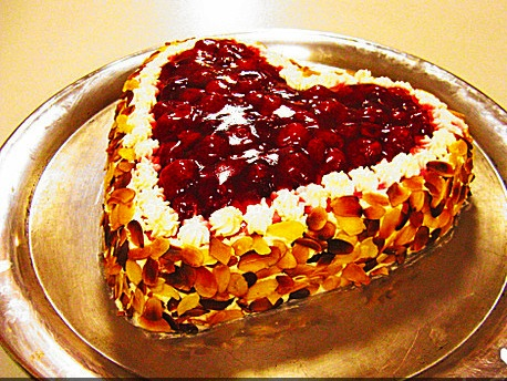 German Valentines Heart Shaped Cake