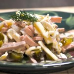 Bologna Salad Wurstsalat - German Specialty from the South