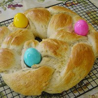 Easter Sweet Bread Wreath - Authentic German