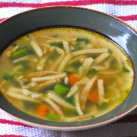 German Flaedle Soup - Swabian Specialty Soup